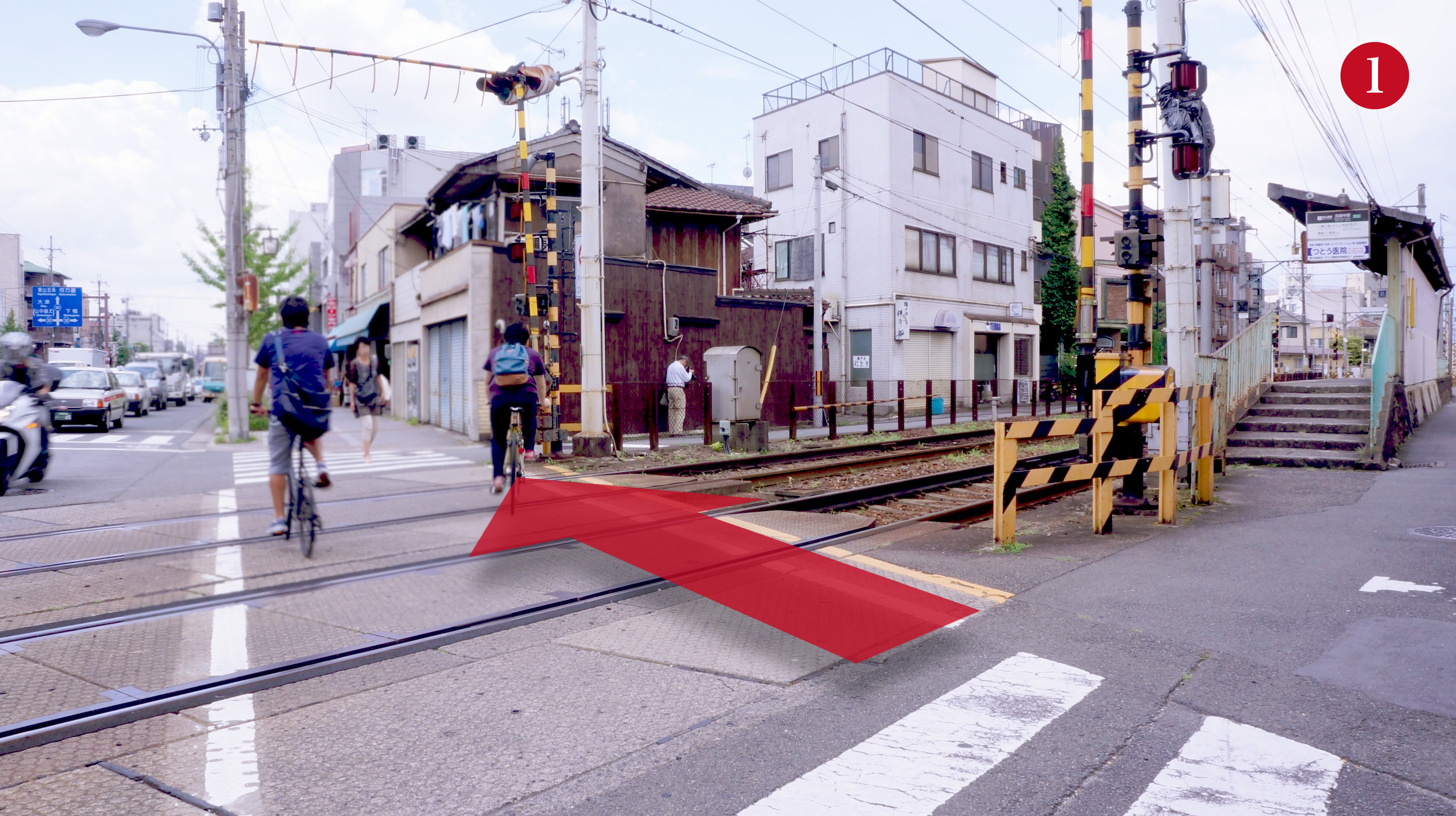 元田中駅(叡山電鉄)-西側降り口